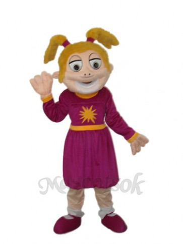 Laughing Girl Mascot Adult Costume