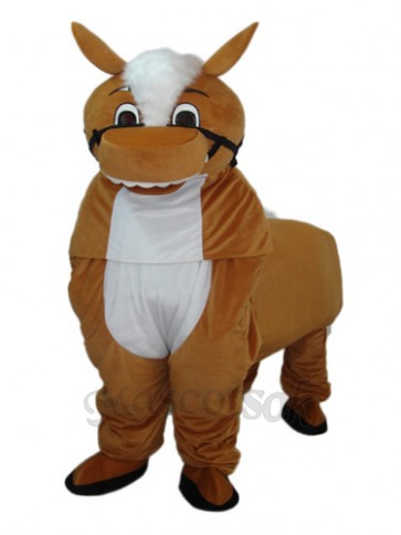 Small Brown Horse Mascot Adult Costume