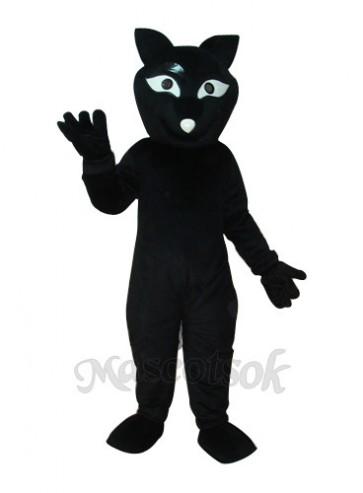 Black Fox Mascot Adult Costume