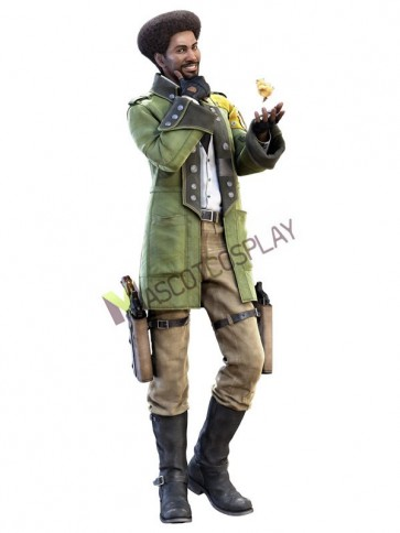 Fabulous Final Fantasy Sazh Katzroy Cosplay Costume