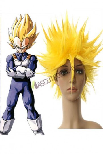 40cm Yellow Dragon Ball Vegeta Super Saiyan Nylon Cosplay Wig