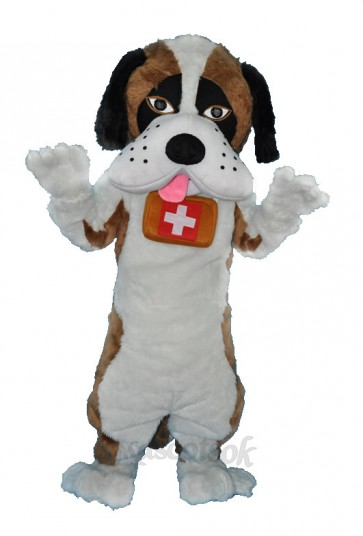 Saint Bernard Dog Mascot Adult Costume