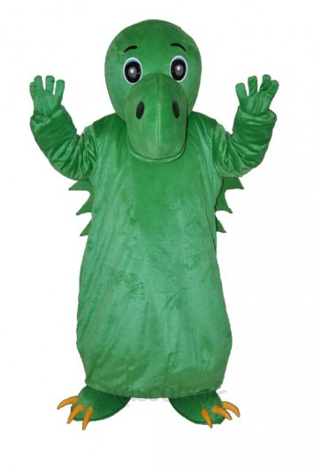 Green Chinese Dinosaur Adult Mascot Costume
