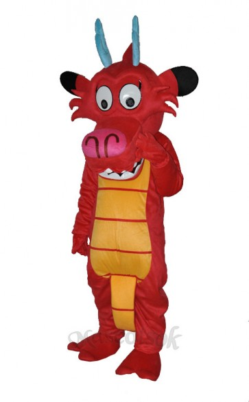 Dragon Mushu Dinosaur Mascot Costume