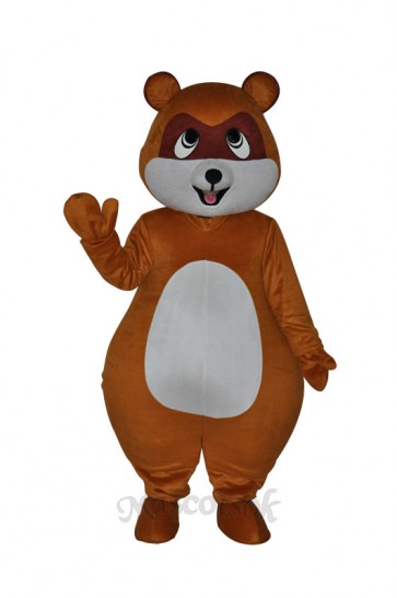 Cute Yellow Brown Civet Cat Mascot Costume