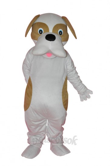 Brown and White Dog Adult Mascot Costume