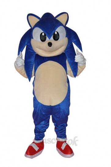 Blue Sonic Hedgehog Mascot Costume