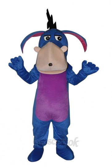 Blue Eeyore Adult Mascot Costume