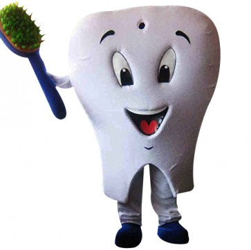 Tooth Mascot Adult Costume Tooth Dental Care Co Birthday Party Fancy Dress Outfit