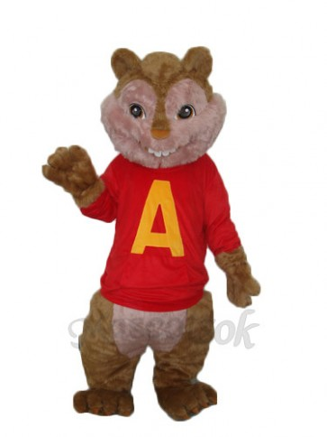 Alvin Chipmunk Mascot Adult Costume .