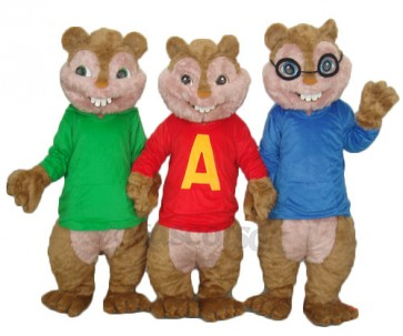 Alvin Simon And Theodore Chipmunk Mascot Adult Costume