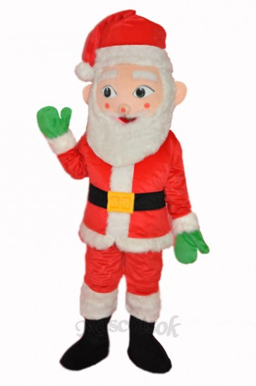New Santa Claus Adult Mascot Costume