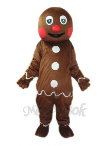 2nd Version Gingerbread Man Mascot Adult Costume