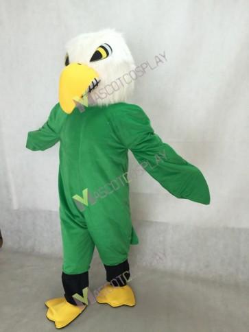 White Head Green Bald Eagle Mascot Costume
