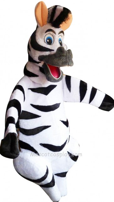 Madagascar Zebra Marty Mascot Character Adult Costume Fancy Dress Outfit