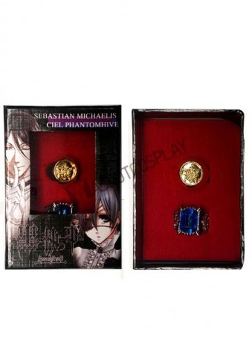 Black Butler Silvery Alloy Anime Ring Set