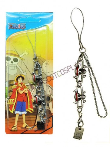 One Piece Monkey D. Luffy Alloy Anime Cell Phone Charm