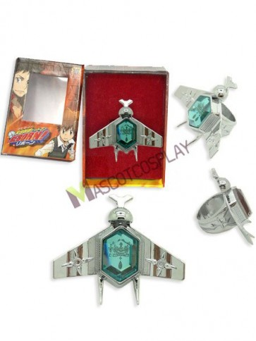 Katekyo Hitman Reborn Simon Family Blue Alloy Anime Ring Set
