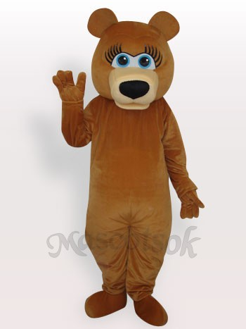 Bear Short Plush Adult Mascot Costume