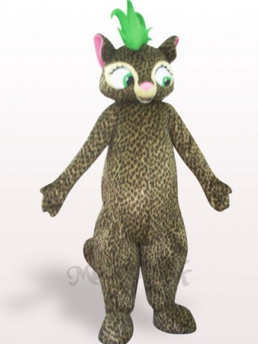 Beautiful Leopard Plush Adult Mascot Costume