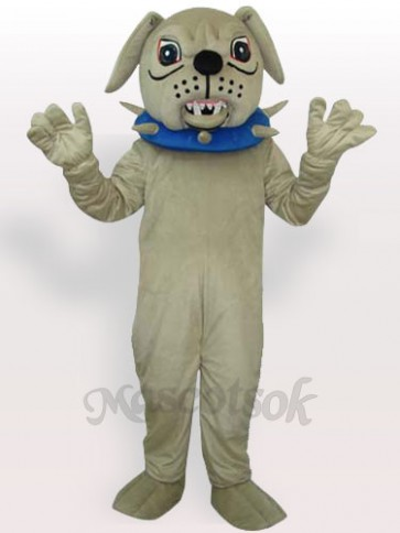 Big Dog with Collar Adult Mascot Costume