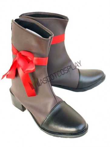 "Black Coffee 2"" Heel Axis Powers Hetalia France Faux Leather Cosplay Shoes"