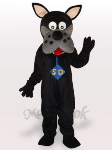 Black Dog Adult Mascot Costume