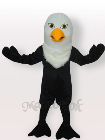 Black Eagle Short Plush Adult Mascot Costume