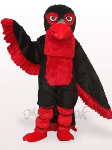 Black Long Hair Eagle Plush Adult Mascot Costume