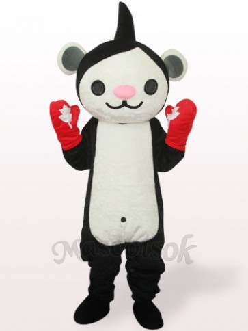 Black Miga Plush Adult Mascot Costume