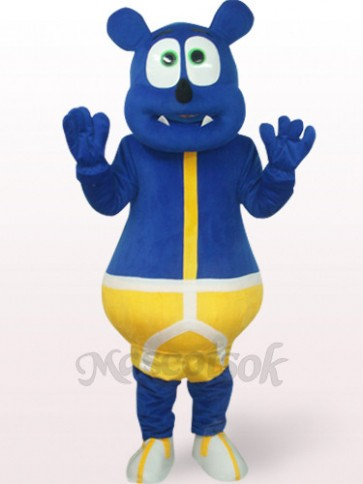 Blue Bear Plush Mascot Costume