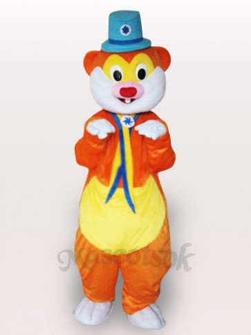 Blue Hat Mouse Adult Mascot Costume