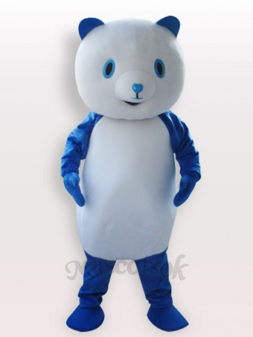 Blue Panda Short Plush Adult Mascot Costume