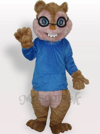 Blue Squirrel Plush Adult Mascot Costume