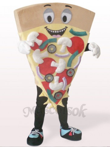Brown Cheese Pizza Plush Mascot Costume