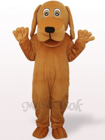 Brown Dog With Big Mouth Plush Adult Mascot Costume