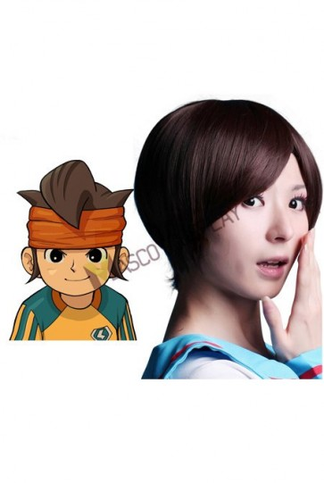 Brown 40cm Inazuma Eleven Nylon Cosplay Wig