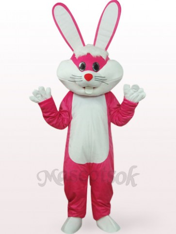 Easter Bunny In Rose Clothes Plush Mascot Costume