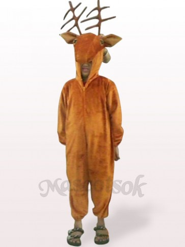Coffee Deer Open Face Kids Plush Mascot Costume