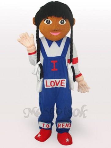 Cow Girl Short Plush Adult Mascot Costume