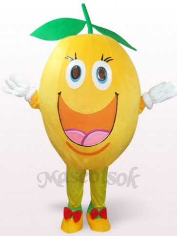 Cute Orange Plush Mascot Costume