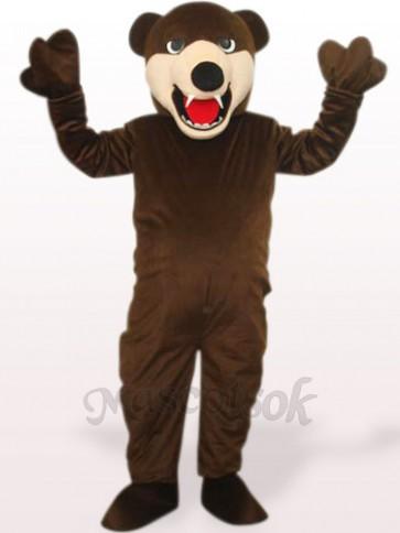 Deep Brown Bluebear Plush Adult Mascot Costume