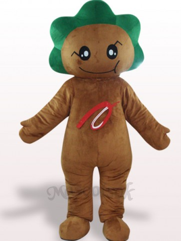 Deep Brown Leaf Flower Plush Adult Mascot Costume