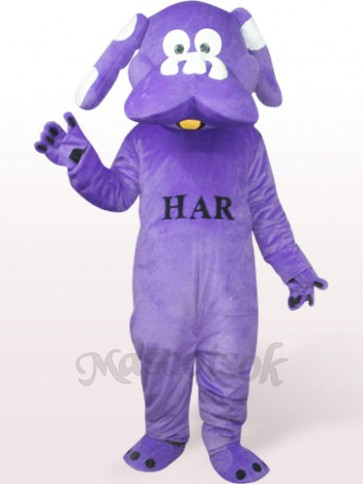 Dog In Purple Plush Mascot Costume