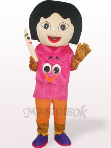 Dora With Rose Mouth Plush Adult Mascot Costume