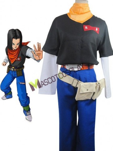 Dragon Ball Andriod Uniform Cloth Rolle Woolen Fabric Cosplay Costume