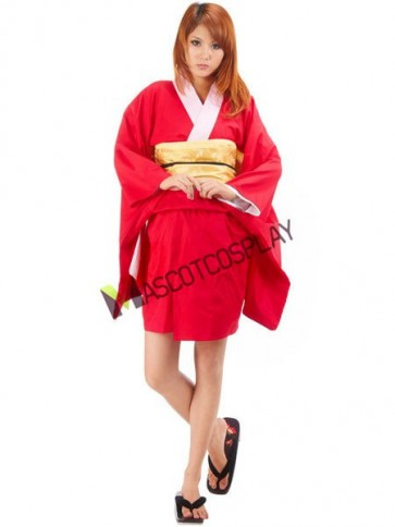 Fabulous Gintama Kagura 65% Cotton 35% Polyester Cosplay Costume