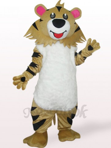 Gray Brown Lion Plush Adult Mascot Costume
