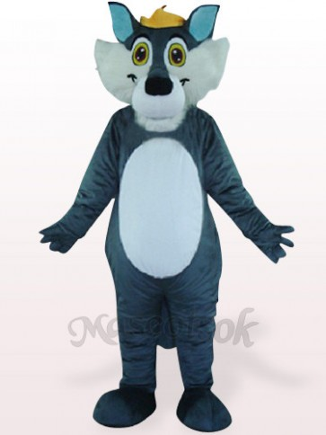 Gray Wolf Plush Mascot Costume