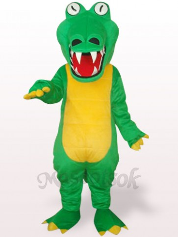 Green Crocodile With Big Mouth Plush Adult Mascot Costume